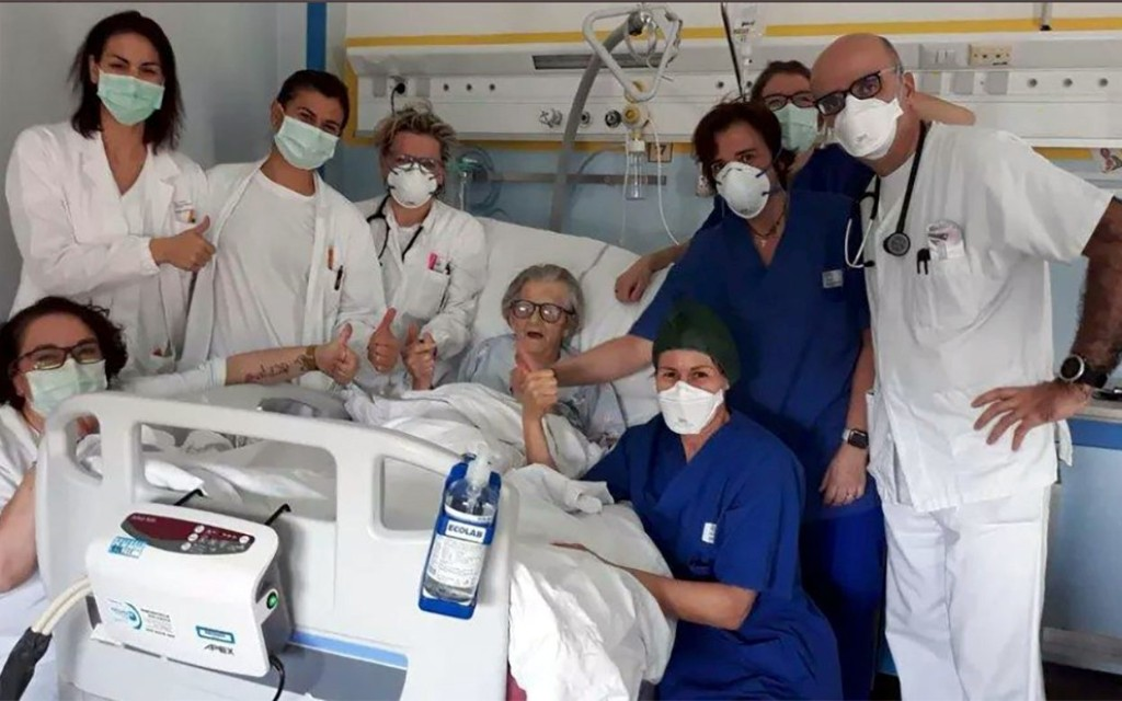 Grandmother of 95 becomes oldest person in Italy to recover from the coronavirus