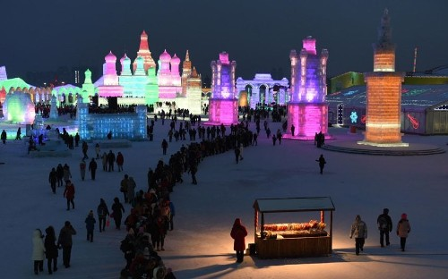 Harbin International Ice and Snow Sculpture Festival, in pictures - Telegraph