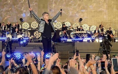 Robbie Williams review, BST Hyde Park: gloriously entertained by the new Tom Jones