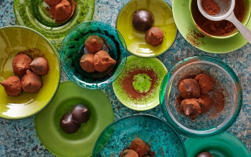 Earl Grey and lime infused truffles