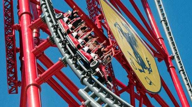 Europe's fastest and highest rollercoaster just opened at Ferrari Land, Spain