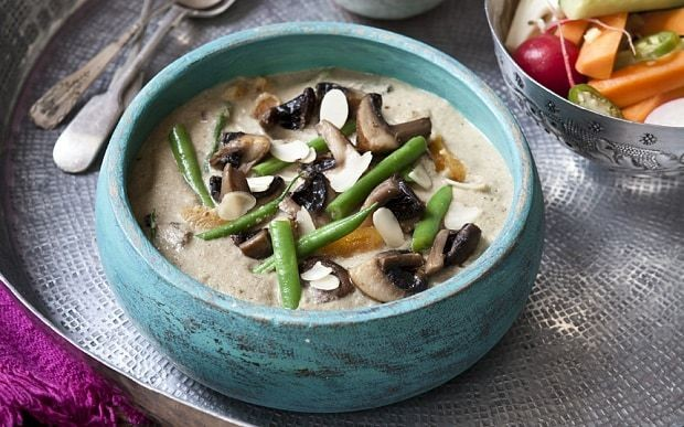 5:2 diet recipe: mushroom and green bean korma