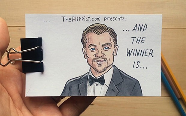 Watch: Artist's excellent animated tribute to Leonardo DiCaprio's Oscar win has an unexpected twist