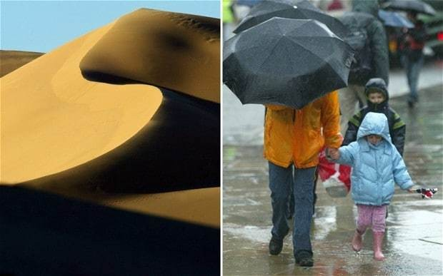 'Blood rain' to fall on Britain as red Saharan dust blows in from Africa