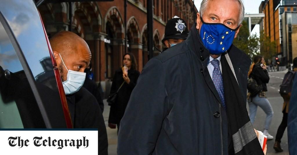 UK Brexit negotiators arrive in Brussels under shadow of coronavirus lockdown