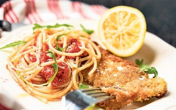 Cheap meat recipes: Scaloppini alla milanese with spaghetti