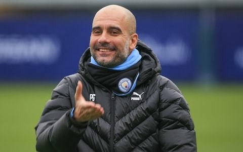 Pep Guardiola dismisses talk of leaving Manchester City and says he is loving challenge of trying to catch Liverpool