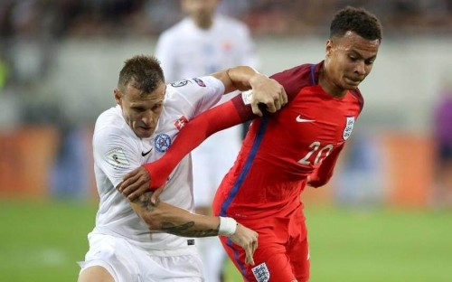 Authorities would rather England win, says Slovakia defender