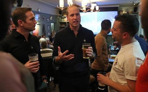 Duke of Cambridge discusses mental health with football fans