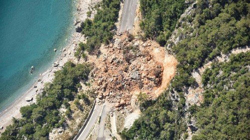 What causes a landslide?
