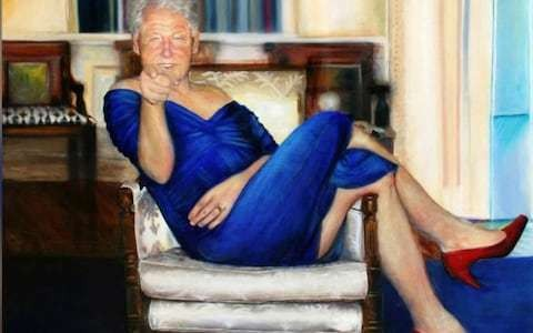 Jeffrey Epstein kept painting of Bill Clinton in drag at his house