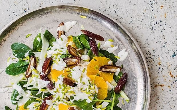 Date and orange salad with fennel and feta recipe