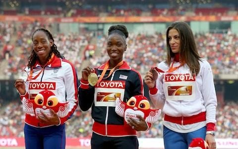 Tianna Bartoletta on becoming anaemic through menstruation, completely changing her technique and defending her Olympic title