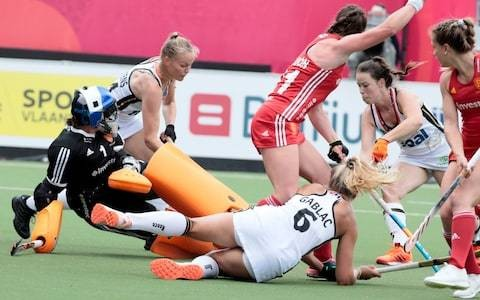 England indebted to goalkeeper Maddie Hinch after letting slip lead against Germany at EuroHockey Championships