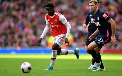 Bukayo Saka ready to challenge Alexandre Lacazette for starting spot in Arsenal's attack