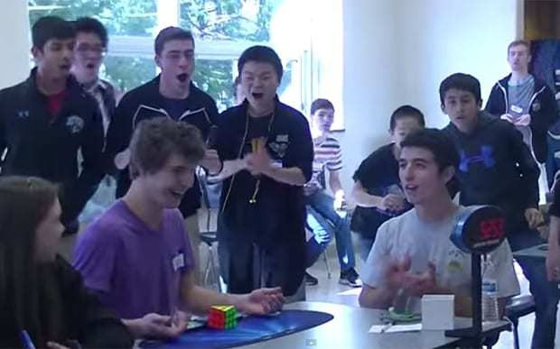Teenager completes Rubik's Cube in world record time of 5.25 seconds