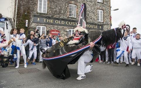 Police will not bring charges after woman's death following Cornish Obby Oss celebrations