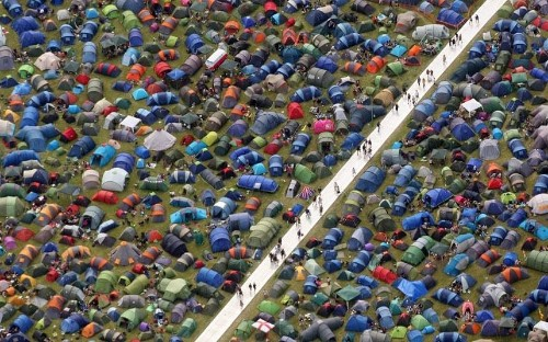 Glastonbury 2014 from the air - Telegraph