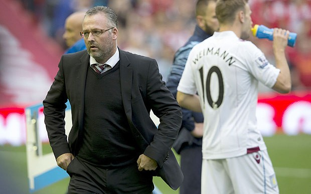 Aston Villa manager Paul Lambert lives in constant fear of failiure as he battles to halt team's slump