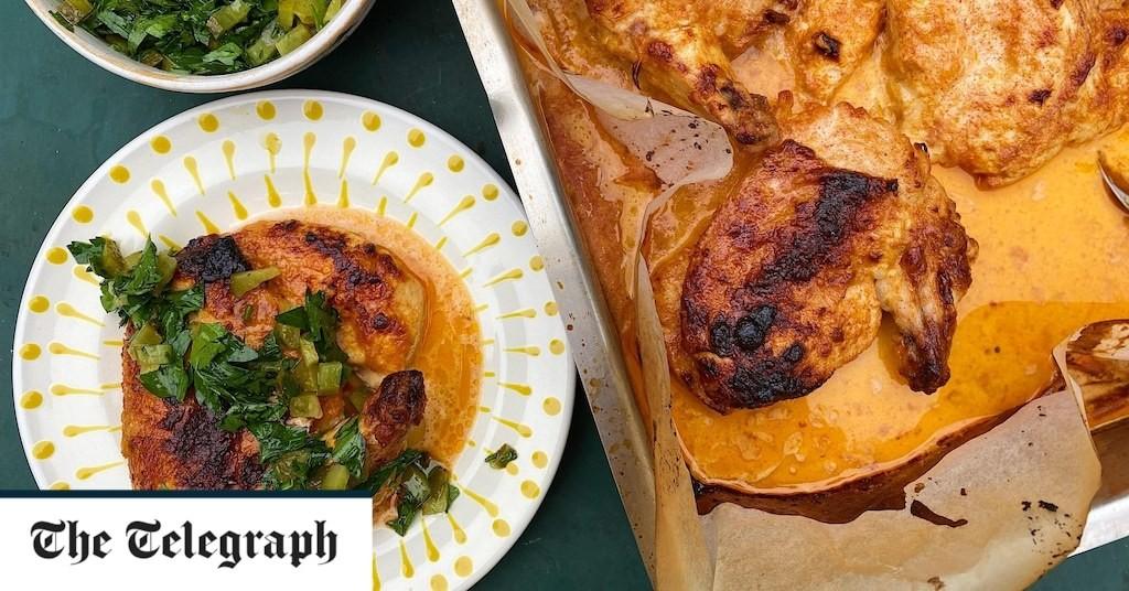 Spicy buttermilk chicken with pickle relish recipe