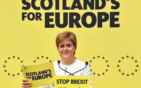 Nicola Sturgeon claims Unionists can safely vote SNP in EU elections as she unveils manifesto backing independence eight times