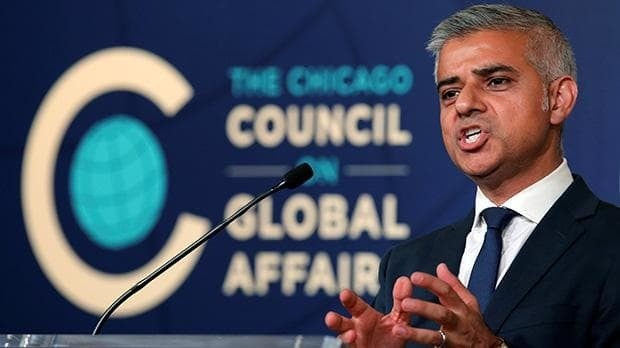 Sadiq Khan blasts Donald Trump for 'playing into hands' of Isil during US trip