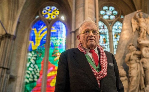 David Hockney designs first 'iPad' window for Westminster Abbey in honour of Queen
