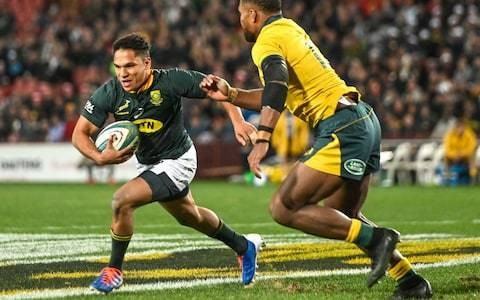 Herschel Jantjies strikes twice on debut as South Africa down Australia in Rugby Championship opener
