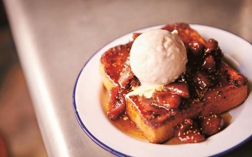 Bourbon and vanilla French toast