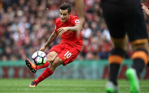 Liverpool forward Philippe Coutinho following in Neymar's footsteps
