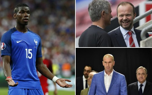 Manchester United's Paul Pogba pursuit under threat from Real Madrid after Zinedine Zidane raises prospect of Spain move
