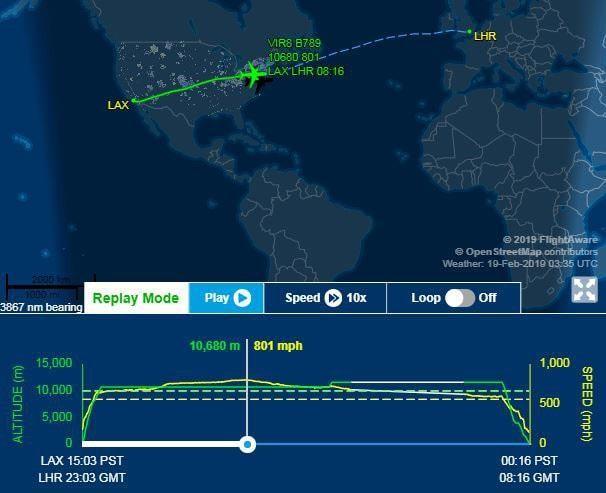 Powerful jet stream propels Virgin Atlantic plane to record-breaking speed