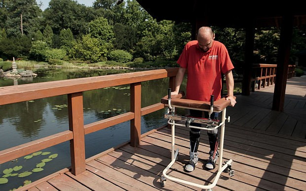 Paralysed man walks again - and the answer was under his nose