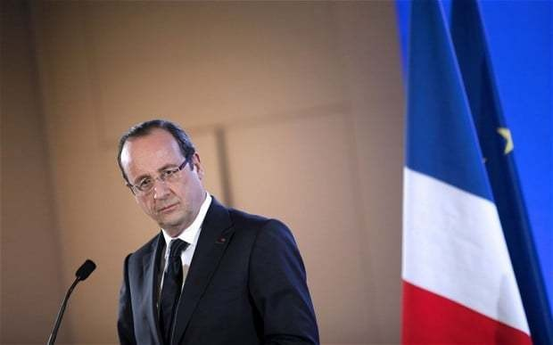 France in double dip recession one year into Hollande's presidency