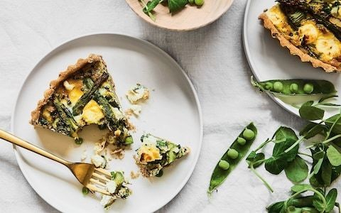Gluten-free asparagus, pea and herb tart recipe