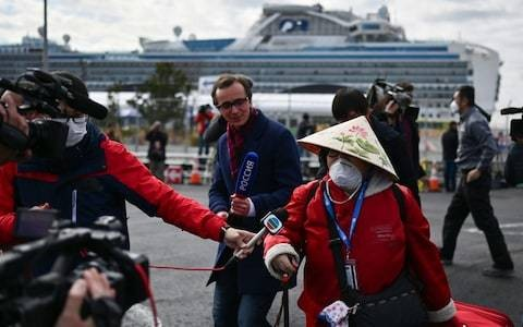 Coronavirus latest news: Passengers begin to leave virus-stricken Diamond Princess cruise ship in Japan
