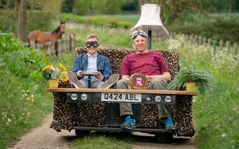 Fancy a ride in my motorised sofa? Mad inventor and wacky racer Edd China takes us for a spin