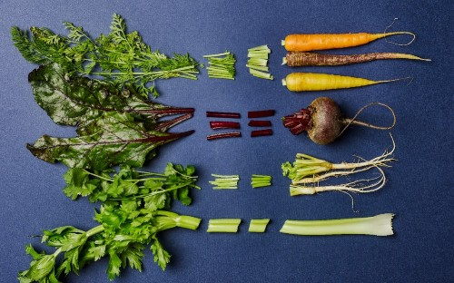 How to eat from 'root to shoot' – with carrot-top pesto and beetroot-leaf frittata