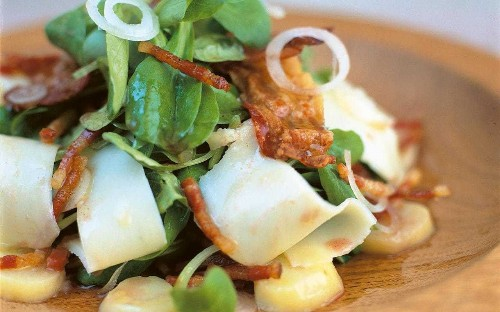 Emily Roux's roasted octopus salad with chilli mayonnaise