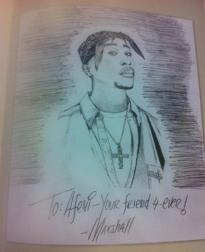 Letter from Eminem to Tupac's mother discovered