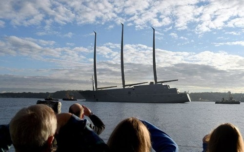 Russian's record-breaking superyacht revealed