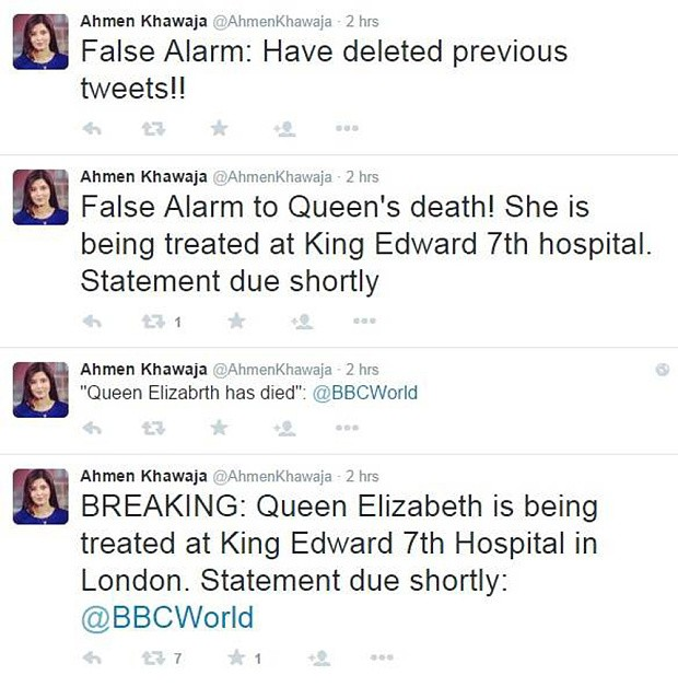 BBC journalist faces disciplinary action after killing off the Queen on Twitter