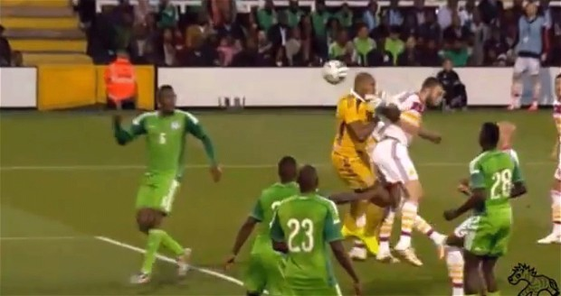 Nigeria goalkeeper spared blushes after bizarre 'own goal' is disallowed