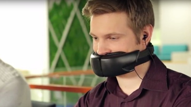 An end to overhearing annoying phone calls? This mask silences private conversations