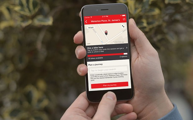 Santander Cycles app lets you hire a 'Boris bike' from your phone