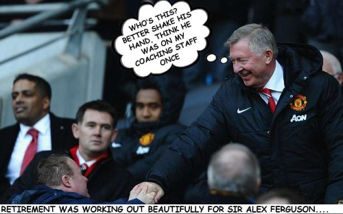 The secret thoughts of Alex Ferguson the fan as he watches David Moyes's Manchester United from the stands - Telegraph