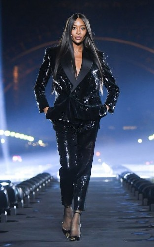 Naomi Campbell and Stella Tennant offer a grown-up take on 'sexy' at Saint Laurent's Paris show