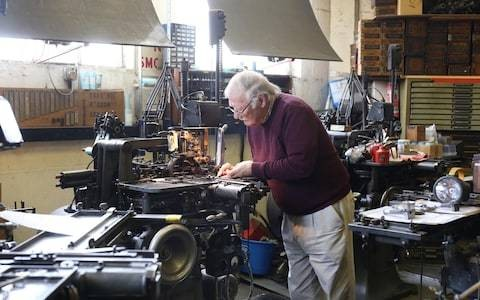 Britain's last artisan printer in plea for apprentice and heir to carry on monotype tradition