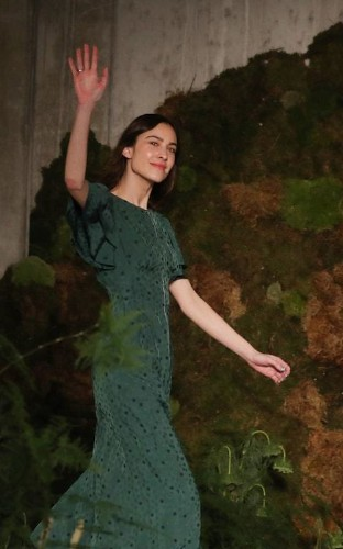 Alexa Chung does floral dresses with a feminist call to arms