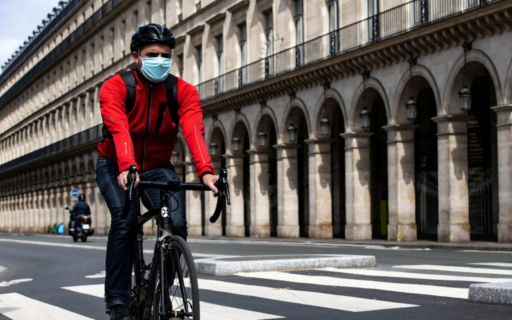 Paris gets on its bike as France emerges from lockdown, with cycling up 53 per cent